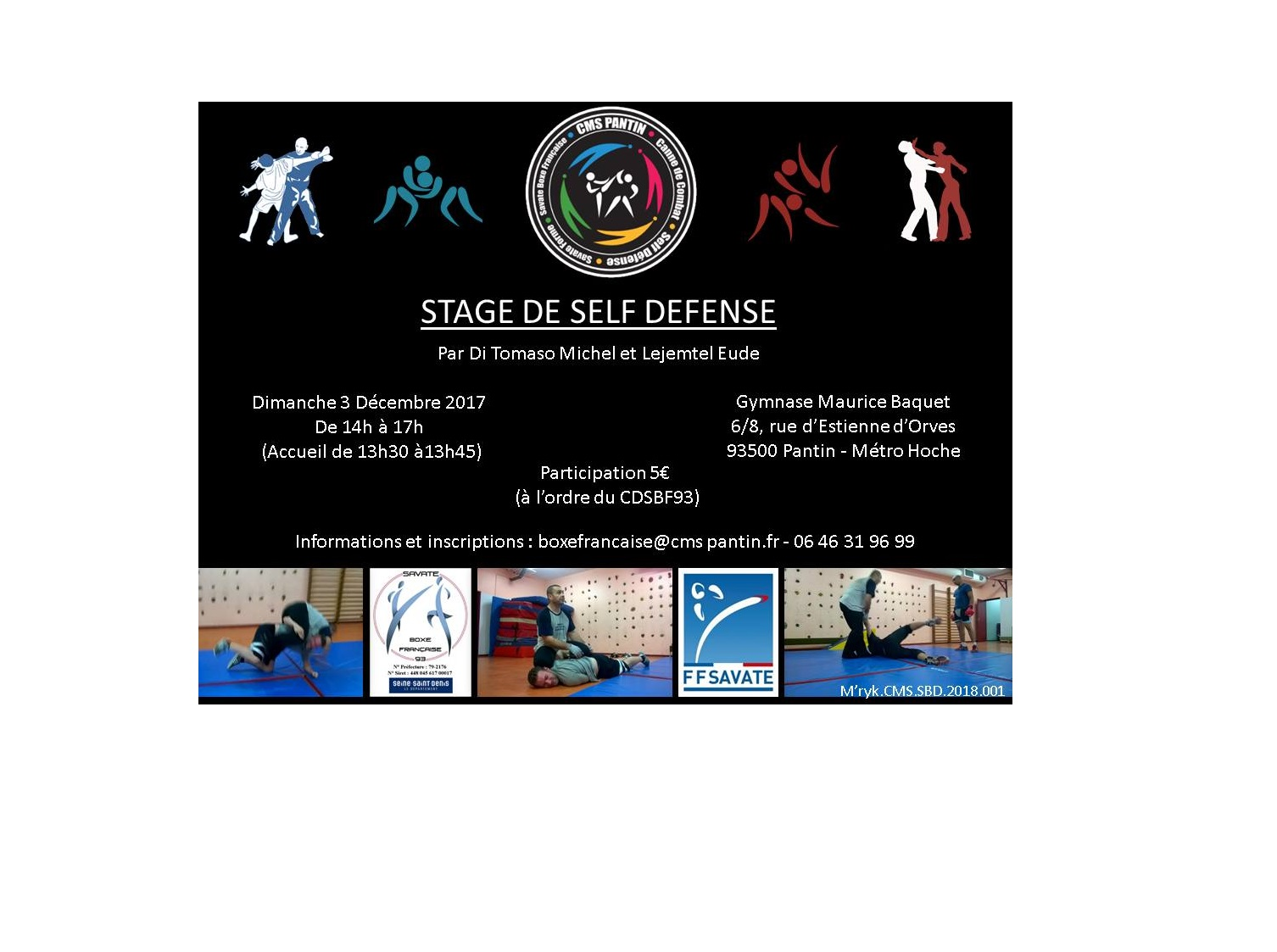 Stage de self-defense - 3 décembre 2017